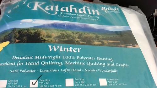 Katahdin Premium Batting - 100% Polyester Winter Weight, Twin