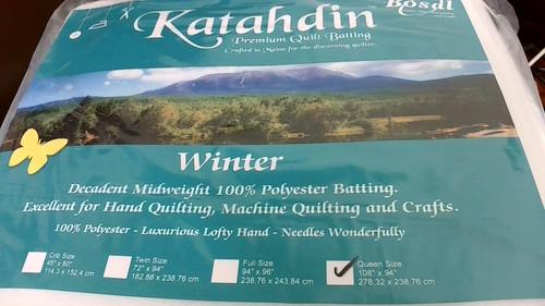 Katahdin Premium Batting - 100% Polyester Winter Weight, Queen