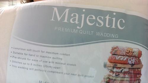 "English Majestic Batting - 60/40% Cotton and Polyester, Twin Oversized 72"" X  120"""