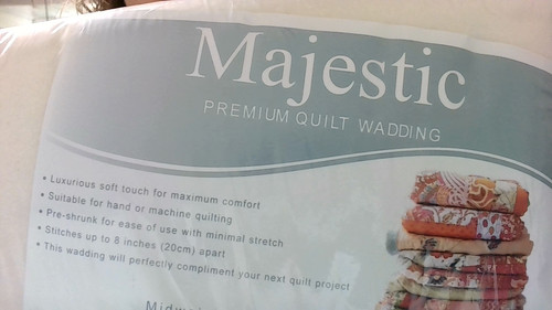 """English Majestic Batting - 60/40% Cotton and Polyester, Full/Queen 90"""" X 120"""""""