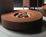 Corten Steel Round Fire Table