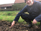 Neville gets round to weeding the Wonderpost Allotment