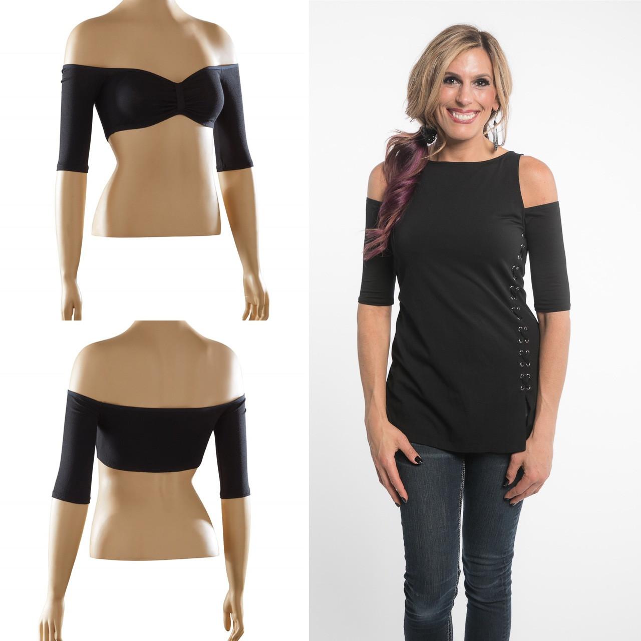 Sleevey Wonders Womens Reversible slip-on 1//2 sleeves