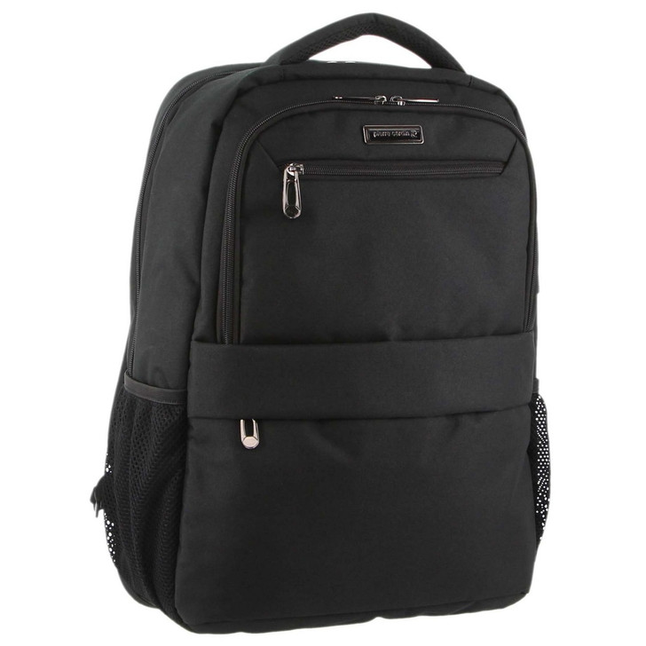 Pierre Cardin Travel & Business Backpack with Built-in USB Port in Black (PC3179)