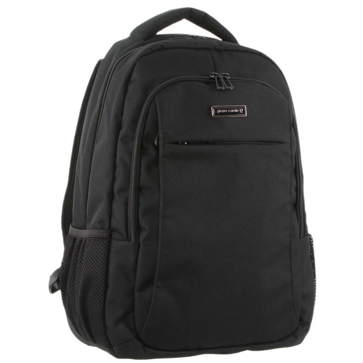 Pierre Cardin Travel & Business Backpack with Built-in USB Port in Black (PC3180)