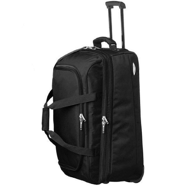 Pierre Cardin Large Soft Luggage Trolley Case in Black (PC2055)