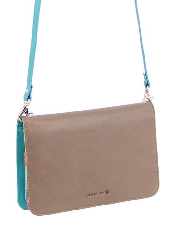 Pierre Cardin Multi-Colour Leather Wallet Bag/ Clutch (PC3264)