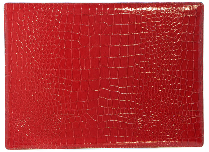 Croc-Embossed Place Mats - PACK OF 4 (BM10537) in Red