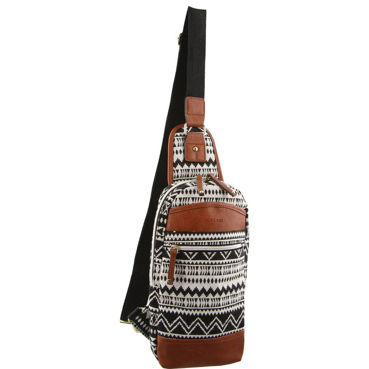 Milleni Unisex Fashion Patterned Slingbag - Body Bag