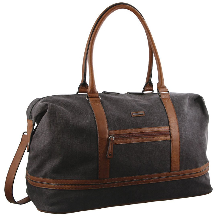 Pierre Cardin Canvas Overnight Bag in Black (PC2578)