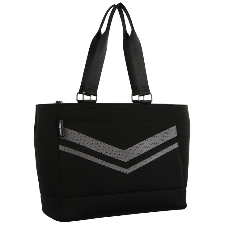 Milleni Neoprene Large Tote Handbag in Black (NP2779)
