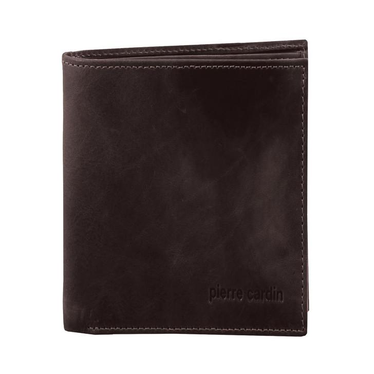 Pierre Cardin Rustic Leather Bi-Fold Mens Wallet in Brown (PC2817)