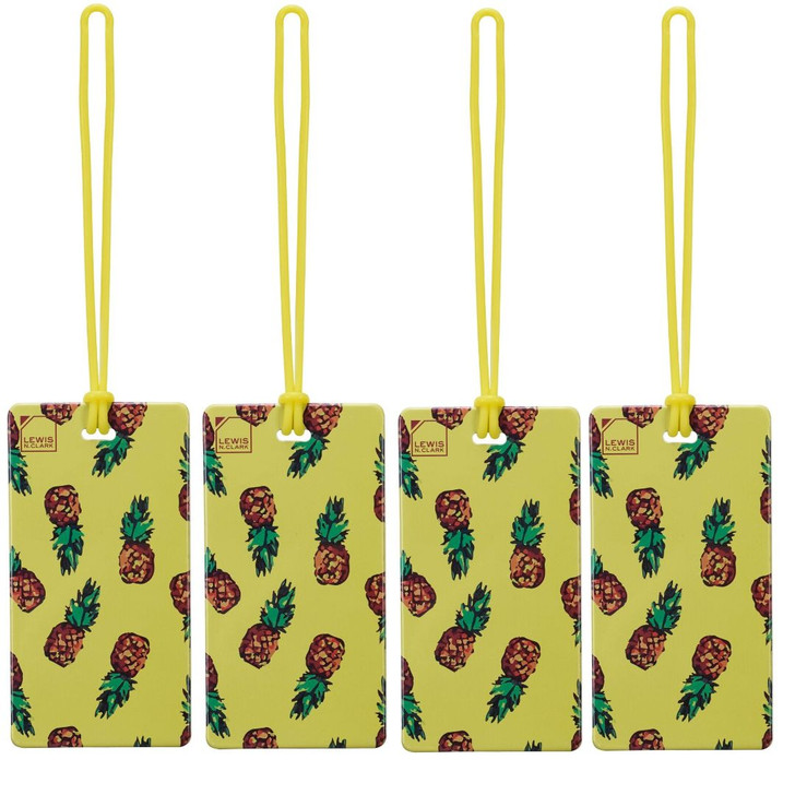 Luggage Tag   Pineapple (LC7614) - PACK OF 4
