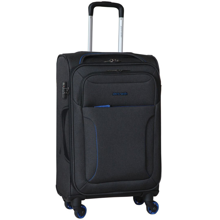 Pierre Cardin Soft Luggage Case in  Black - LARGE (PC2823L)