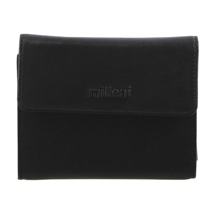 Milleni Ladies Tri Fold Wallet in Black (C2884)