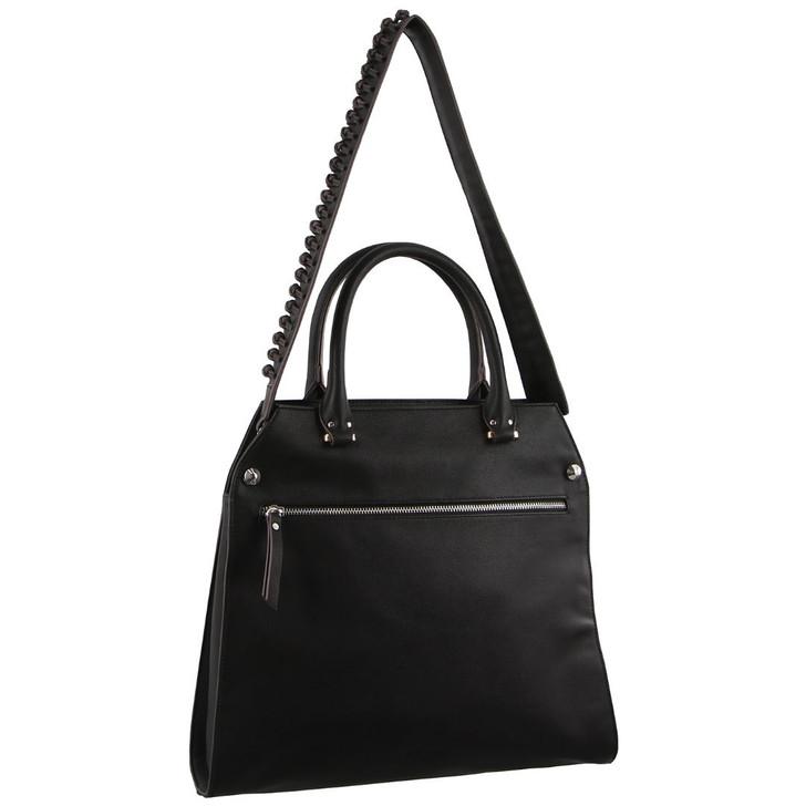 Milleni Cross Body handbag with guitar strap in Black (PV2714)