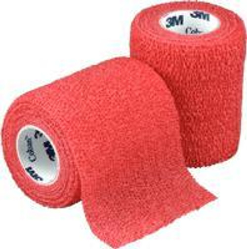 "3M-1583R Coban Self-Adherent Wrap Red 3"" x5 Yards BX/24 (3M-1583R) (3M-1583R)"