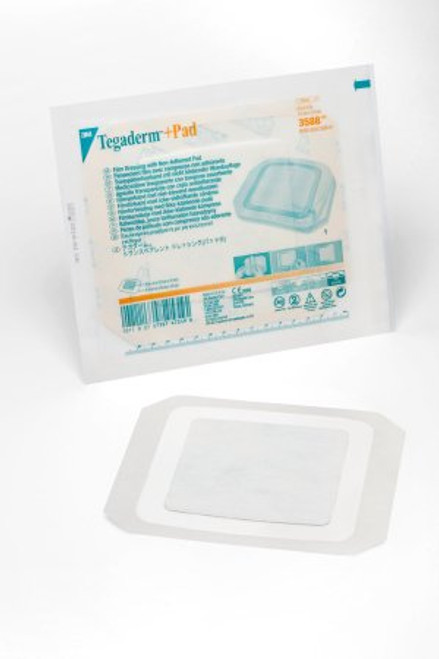 3M Tegaderm Transparent Dressing with Absorbent Pad 15 cm x 15 cm BX/25