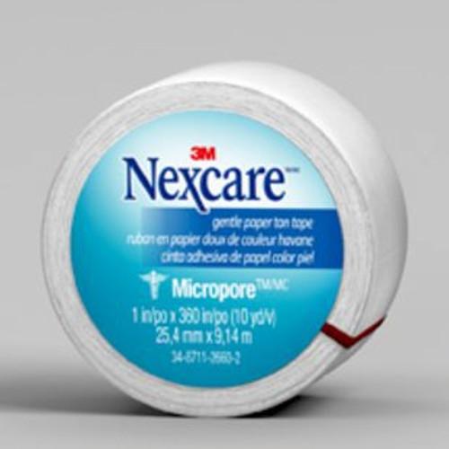 "Nexcare Micropore First Aid Tape 1"" X 360"" NEXCARE (CS/3BX) BX/12 (3M-530-P1)"