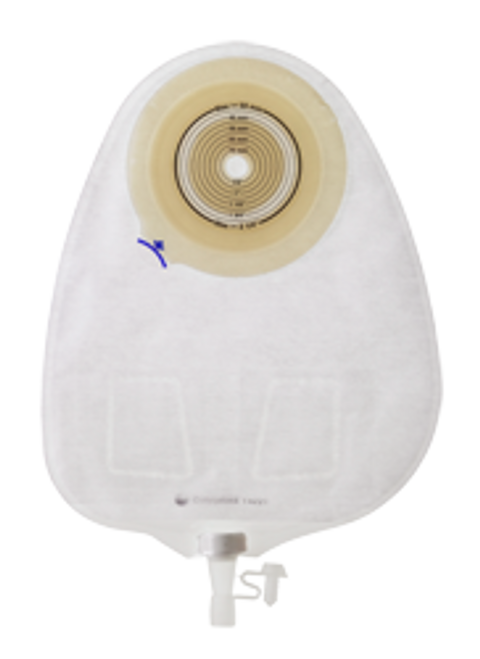 """ASSURA 1-PIECE CONVEX LIGHT OPAQUE Urostomy Pouch, CUT-TO-FIT UP TO 1 3/4"""" (43mm) BX/10 (COL-14701)"""