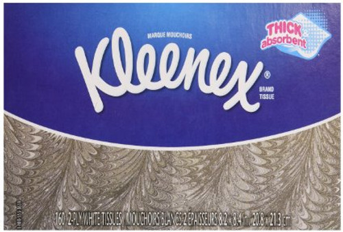 KLEENEX, 2 PLY, WHITE BOX/100 (KC 21400) - Case of 36