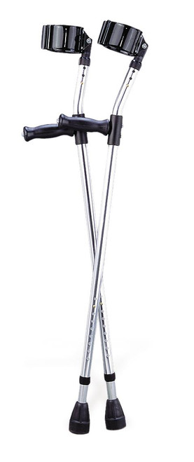 Medline G05161 CRUTCH,ALUMINUM,ADULT,FOREARM PR 1/PR