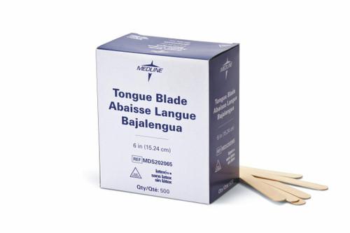 "Medline MDS202065 6"" TONGUE BLADE DEPRESSOR,NON-STERILE CS 5000/CS (Medline MDS202065)"