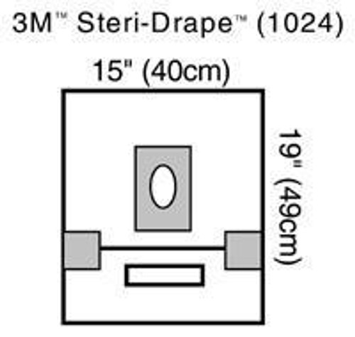 3M-1024 Steri-Drape™ Small Drape with Adhesive Aperture and Pouch 46cm X 39cm BX/10 (3M-1024)