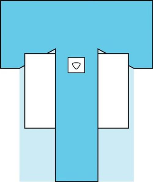 3M-9055 Steri-Drape™ Hip Drape W/Pouches, BX/8