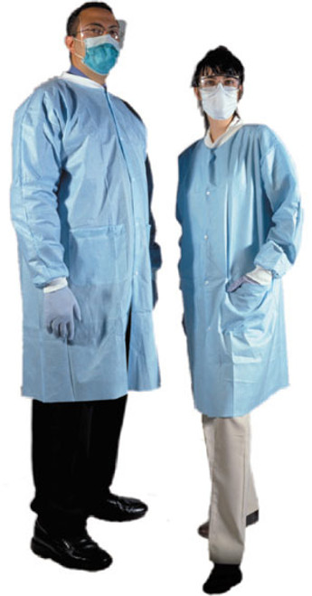 AMD 8017 LAB COATS SKY BLUE, SIZE MEDIUM (CS/5) BX/10