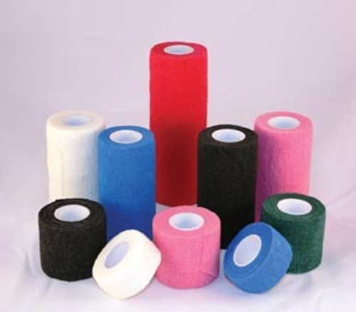 """AMD A3061-A COHESIVE BANDAGES 3"""" X 5YDS, ASSORTED COLORS - Case of 24"""
