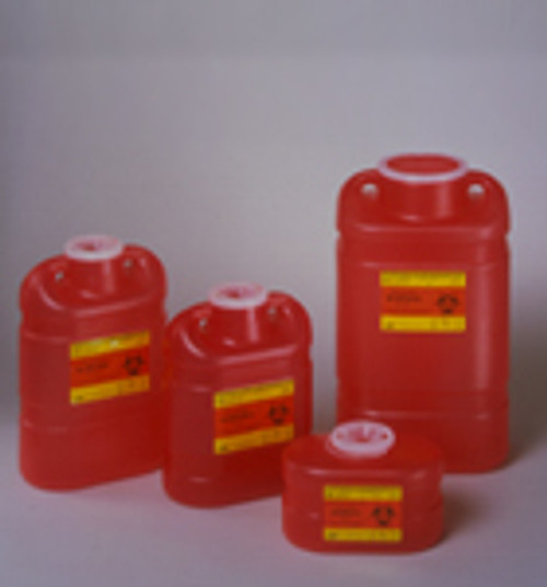 BD-305494 KIT SHARPS CONTAINER LOCKABLE W/BRACKETS/CABINET 0.7QT RED F/BD CS/12