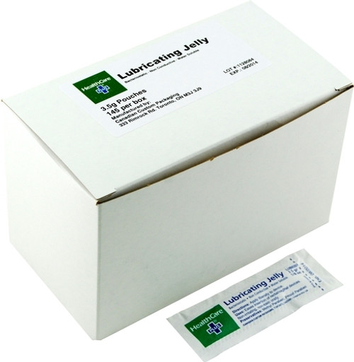 HealthCare Plus LUB-035 BACTERIOSTATIC Lubricating Jelly Sterile 3.5g packets 145/ bx