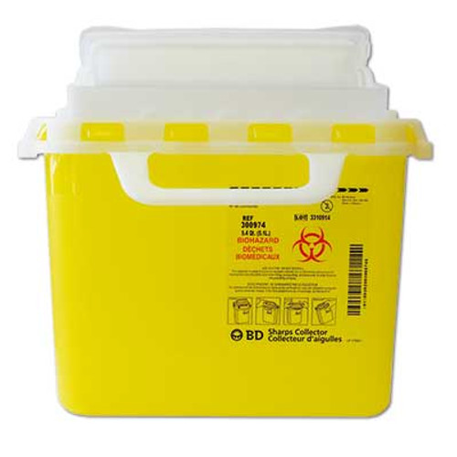 BD 300974 Sharps collectors. 5.1L point of use, horizontal entry