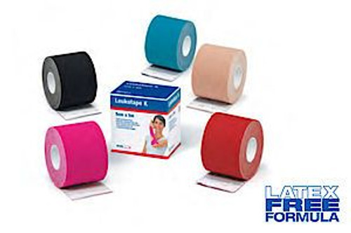 BSN 7297810 Leukotape K 7297810 Elastic Adhesive Tape for Pain Relief Beige/Tan x 5m