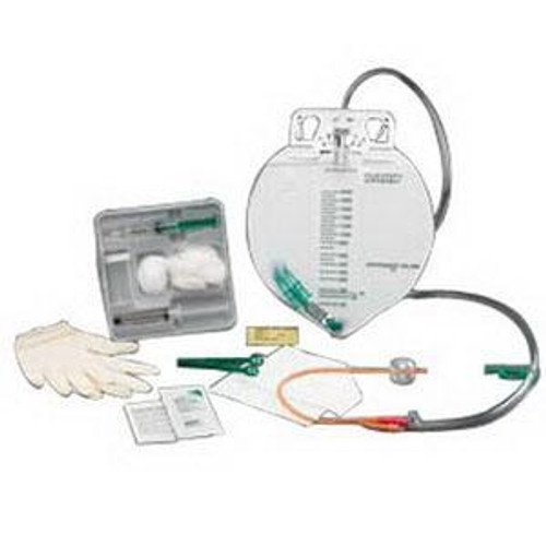 Bard 900016A COMPLETE CARE INFECTION CONTROL FOLEY TRAY, 16FR W/ DRAINAGE BAG CS/10 (Bard 900016A)