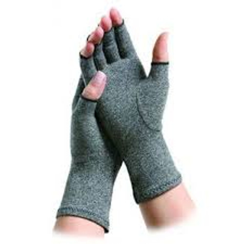 Brownmed 20186 PK/2 BROWNMED IMAK ACTIVE GLOVES, MEDIUM, COTTON, GRAY, 3 1/2""