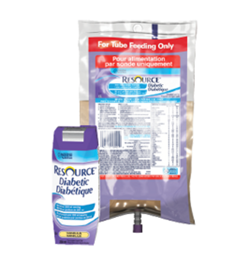 RESOURCE DIABETIC with SPIKERIGHT 4 x 1.5 L ULTRAPAK vanilla