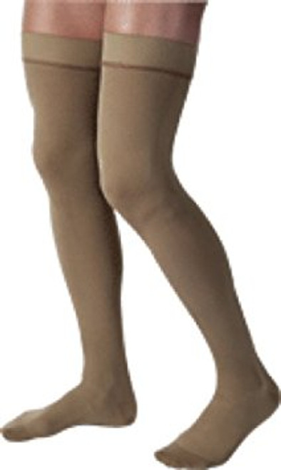 BSN-115014 PR/1 JOBST MEDICAL LEG WEAR, MEN, KNEE HIGH, RIBBED, 15-20MMHG, LG, KHAKI, CLOSED TOE