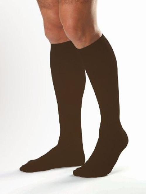 BSN-115098 PR/1 JOBST MEDICAL LEG WEAR, MEN, KNEE HIGH, RIBBED, 20-30MMHG, LG, BROWN, CLOSED TOE