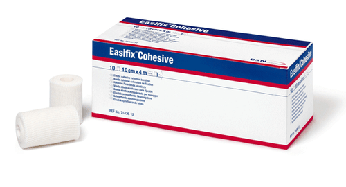 BSN Medical 7143617 EASIFIX Cohesive Dressing Retention bandage, 10cm x 20m Stretched, ROLL 4 x 66
