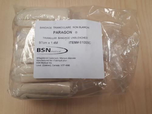 BSN-61000C BX/12 PARAGON TRIANGULAR COTTON BANDAGE 97CM X 136CM
