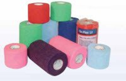 BSN-7210021 BX/18 CO-PLUS LATEX FREE ELASTIC COHESIVE BANDAGE 10CM X 4.5M (STRETCHED), MIXED COLORS