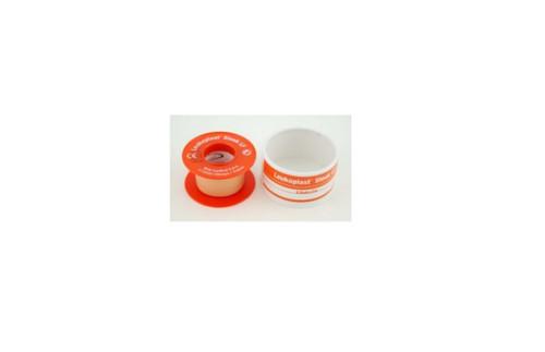 BSN-7235908 LEUKOPLAST SLEEK LATEX FREE ZINC OXIDE PLASTIC WATERPROOF TAPE 2.5CM X 3M, SPOOLS, 10/Box