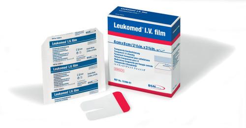 BSN-7239005 LEUKOMED IV WATERPROOF ADHESIVE TRANSPARENT STERILE FILM 7CM X 9CM BX/50