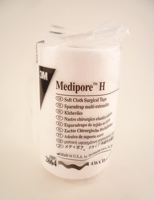"3M-2864 Medipore H Soft Cloth Surgical Tape 4""x 10 yards, RL/1"