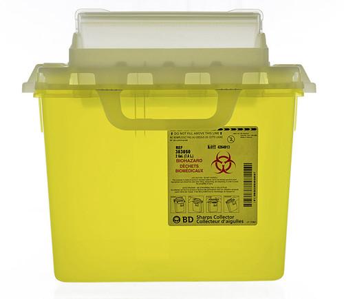 BD 303050 Collector SHARPS NESTABLE 7.6 L YELLOW HORIZ DROP