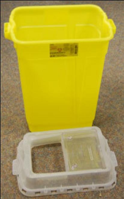 BD-305647 Collector SHARPS NESTABLE 72 ltr Yellow VERT DROP