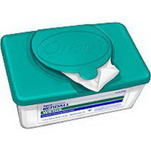 "Kendall 6599N (CS/8) TUB/64 WINGS PREMOISTENED WASHCLOTHS, 8.7"" X 11.8"" (Kendall 6599N)"