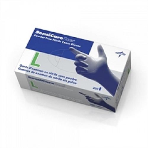 Medline 486803 (CS/10) BX/200 SENSICARE ICE NON-STERILE PF, LF NITRILE EXAM GLOVE LG, BLUE
